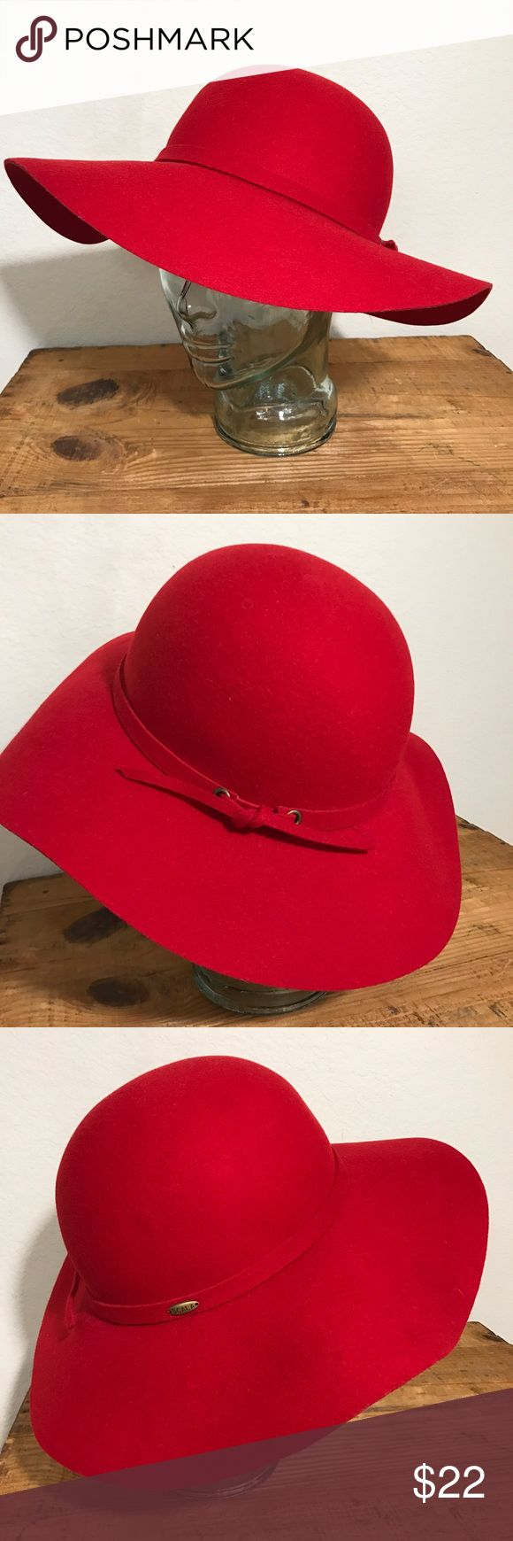 Scala Red 100% Wool Women Floppy Hat Scala Red 100% Wool Women Floppy Hat Church Dress Society Hat  Red Hat Society hat  EUC- Please see photos as we do consider them to be a part of the description. Scala Accessories Hats