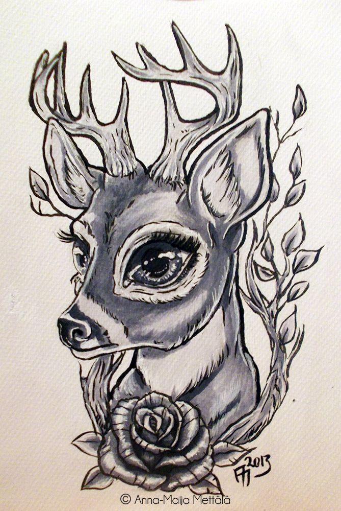 Deer by mai-coh.deviantart.com on @deviantART
