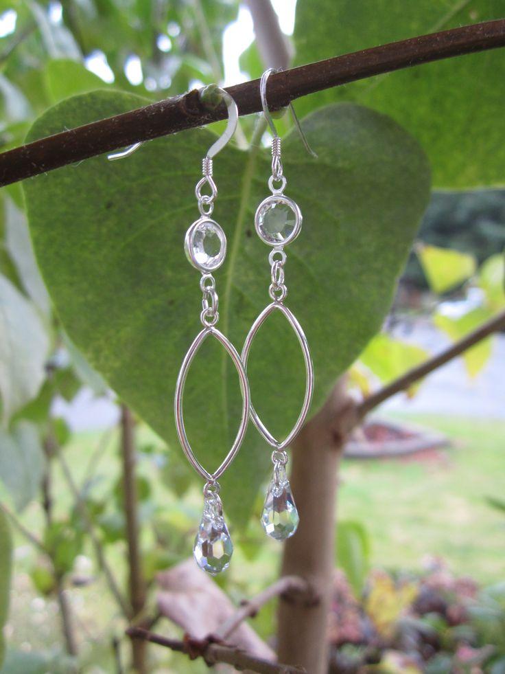 Silver crystal drops