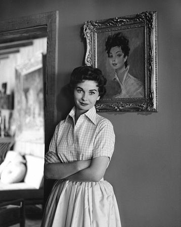 Jean Simmons at Home 4/14/1955