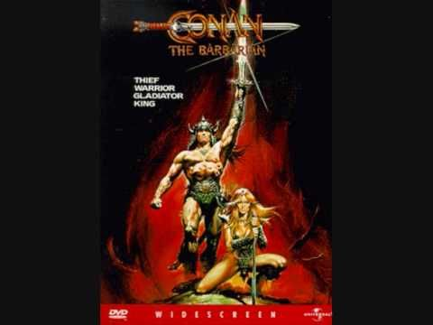 'Prologue/Anvil of Crom', the opening theme from Conan The Barbarian (1982), composed by Basil Poledouris. Narration by Mako.