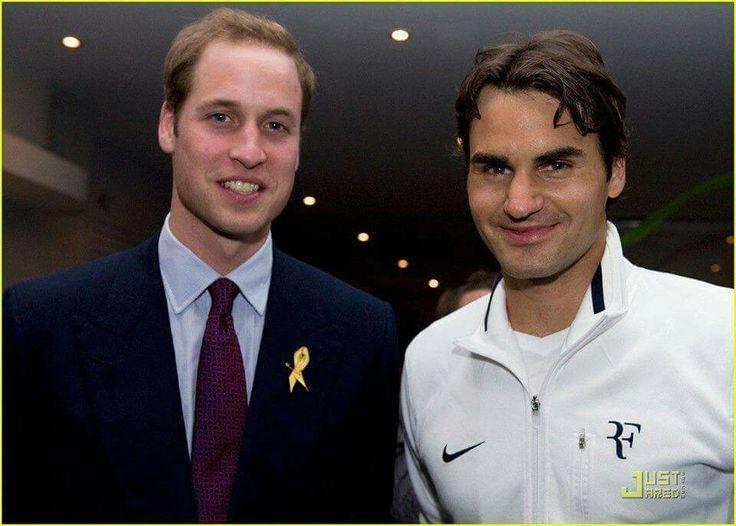 Prince William and King Roger Federer