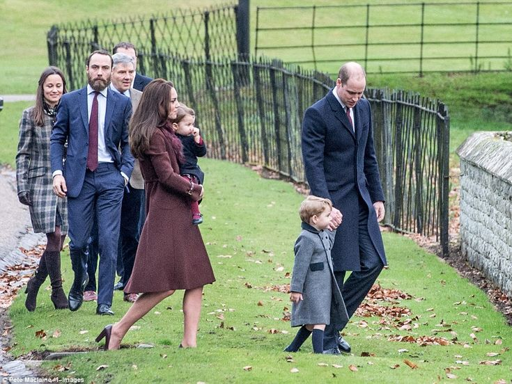 William and Kate, Prince George and Princess Charlotte and Kate's brother and sister, Pipp...