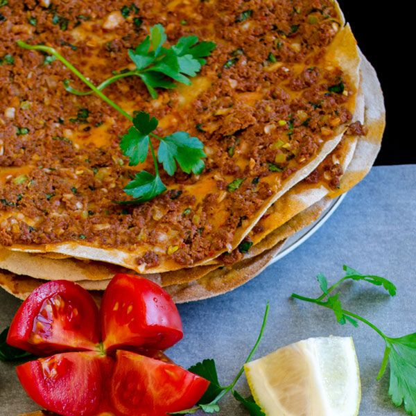 Lahmacun with Whole Wheat Flour. Recipe at http://www.giverecipe.com/lahmacun-with-whole-wheat-flour.html#