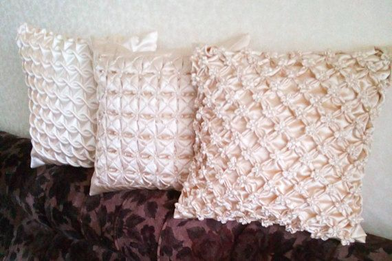 Smocked Beige Throw Pillow is a perfect gift for an anniversary,Mothers Day,Christmas, St. Valentines day or just to show your love.This Beige Cushion Cover can be a wonderful gift for somebody or great décor at you sweet home. I love smocked pillows. I like to change pillowcases and