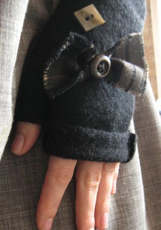 Mitaines en laine bouillie_tuto super simple