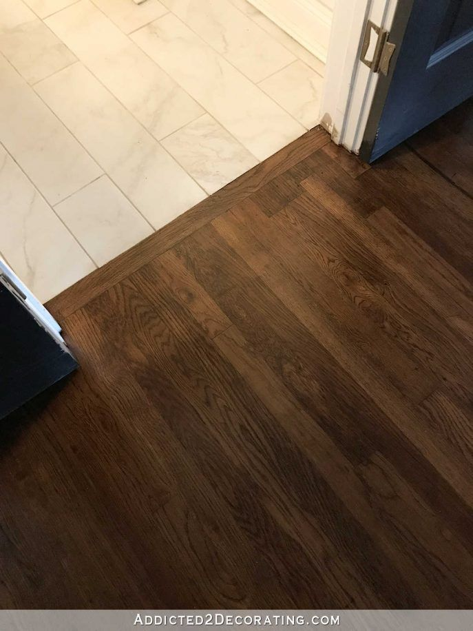 Floor Tile Floor Transition Tile To Wood Only If I Absolutely Had To Maybe This Flooring Red Oak Hardwood Oak Hardwood Flooring