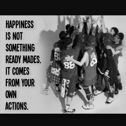 """QOTD :""""Happiness is not something ready mades. It comes from your own action.""""  Pic:EXO"""