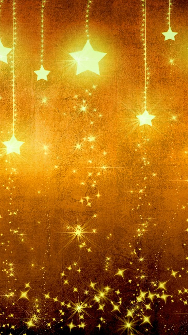 Star Gold Holiday Background Brown Yellow Light Texture