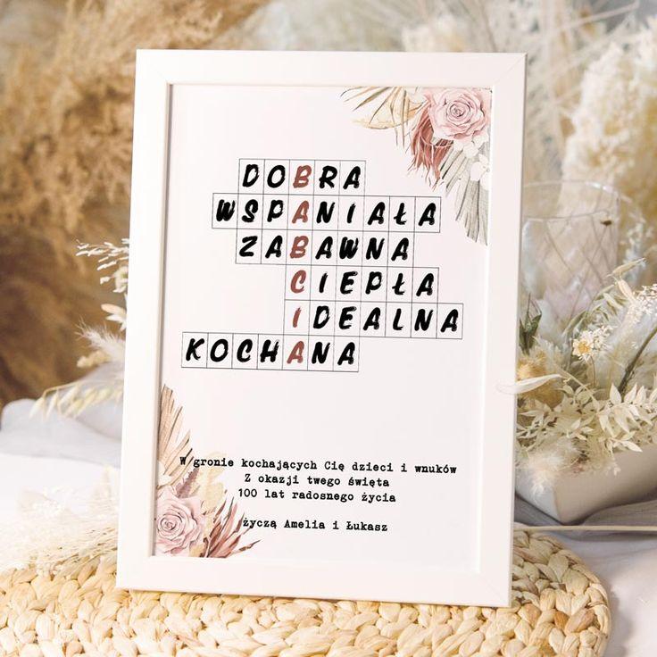 Krzyzowka Prezent Dla Babci W Ramce In 2021 Lettering Paperlove Book Cover