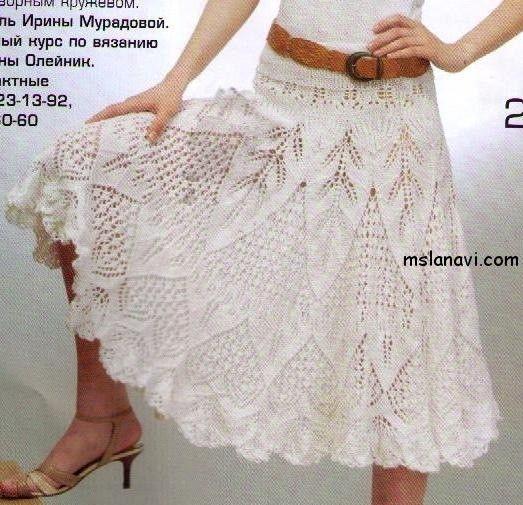 f56313a70 Faldas tejidas en dos agujaS - Imagui