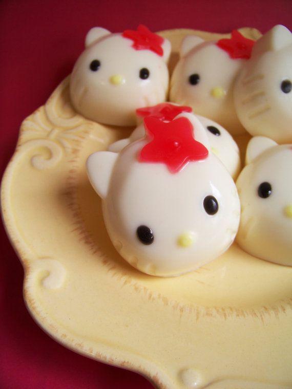 Raspberry Cream Kitty Soap by LoveLeeSoaps on Etsy, $6.00