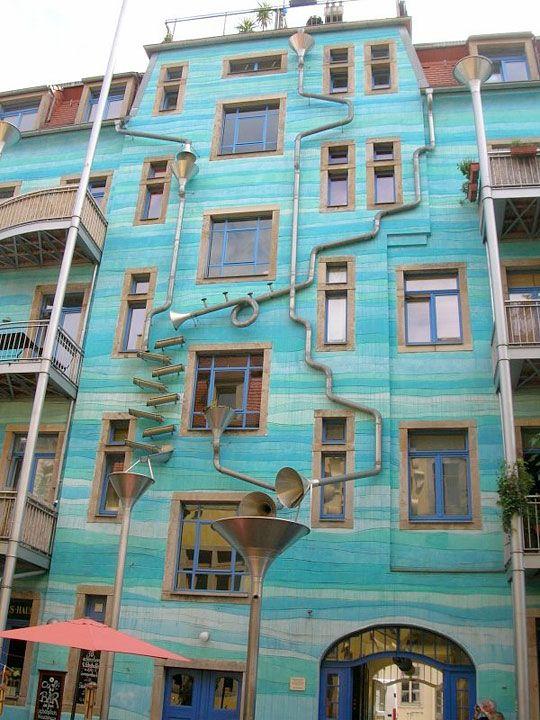 Rain gutters that play music