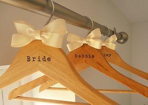Personalised Bridal Dress Hangers
