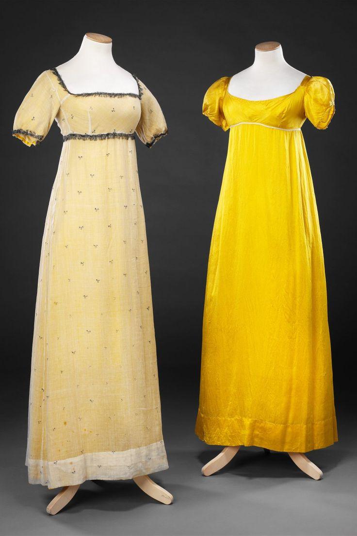 Yellow muslin dress 1920s