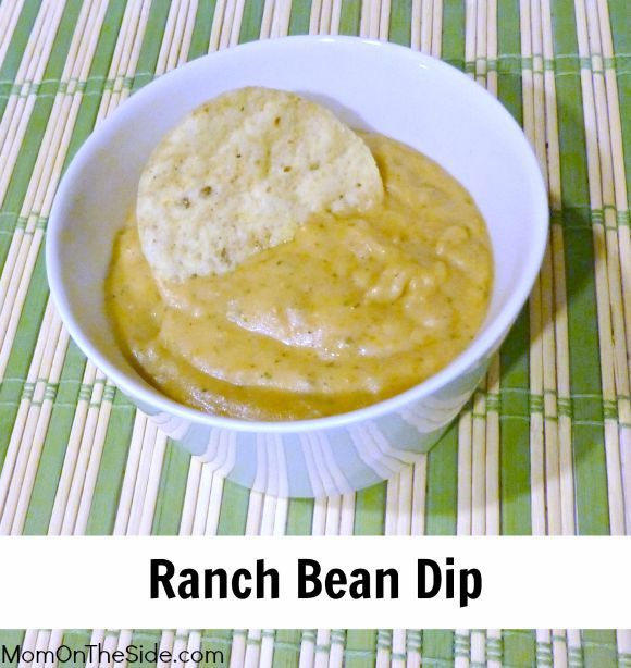 Ranch Bean Dip Recipe that is tasty and easy! You can throw it together and leave it in the crockpot to munch on during Football Games, Parties, or any time