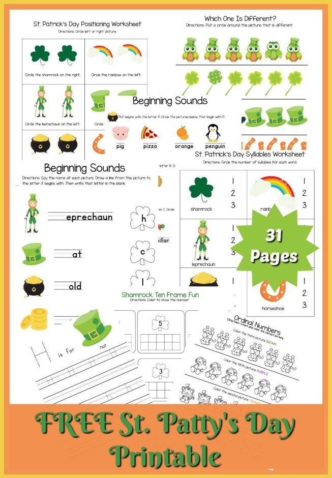 St Patrick S Day Printable With Images Syllable Worksheet