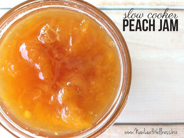 Slow cooker peach jam recipe canning pinterest peach jam for Peach preserves no pectin