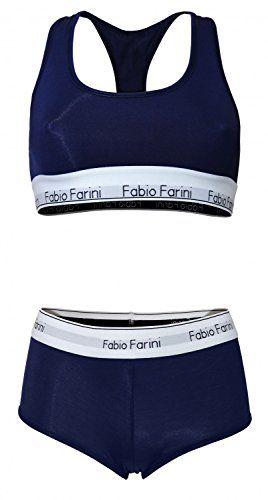 #Fabio #Farini #Sportliches #Set #Damen #Panty und #BH mit #Racerback in…