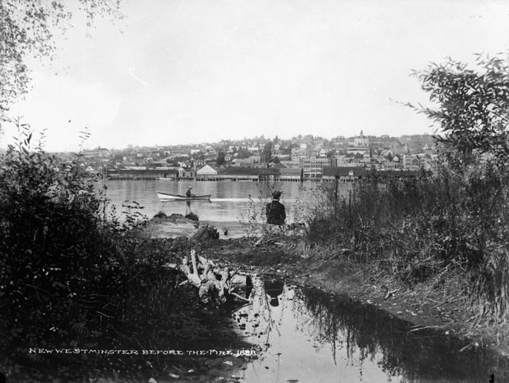 New Westminster, shown before the fire, 1898