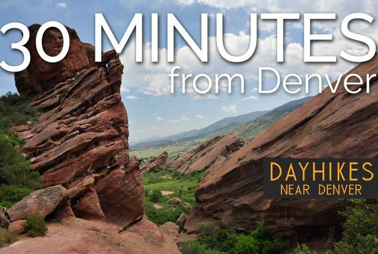 Hikes 30 Minutes from Denver Looking for Colorado hikes that are easy on your legs and close to Denver? Explore our growing set of hiking trail profiles. Surprisingly, some of the best destination hikes in Colorado are some of the easiest and right out your back door. If you are searching for a great hike for visiting family and friends, check out our page of hike profiles recommended for your out of state guests.