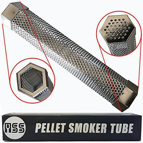 Make your BBQ party more juicy and tasty with this superiority Pellets Tube. Features and Advantages: • Made of 100% stainless steel, makes this strong and never break, bend or rust. This pellet smoker is built to last.  • This BBQ Smoke Generator is designed with Hexagon shape, keeps it stay whe... more details available at https://www.kitchen-dining.com/blog/grills-outdoor-cooking/outdoor-fryers-smokers/product-review-for-pellet-smoker-tube-12-perforated-stainless-steel