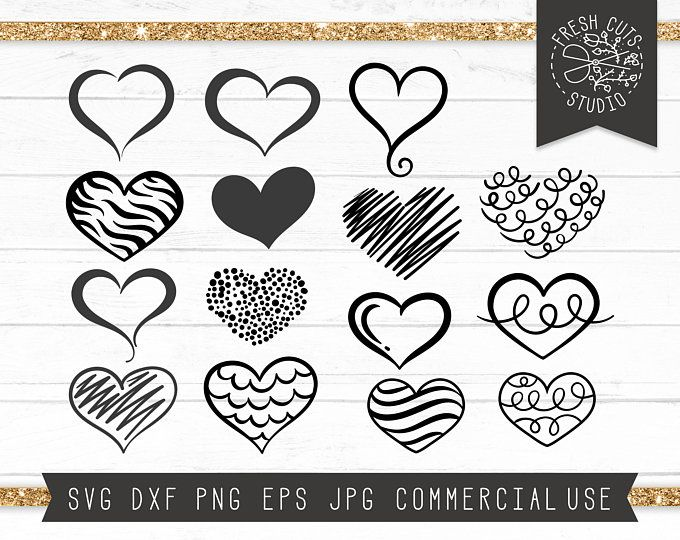 Heart Doodles Clipart Png Printable Valentine Graphics Etsy Heart Doodle How To Draw Hands Doodles