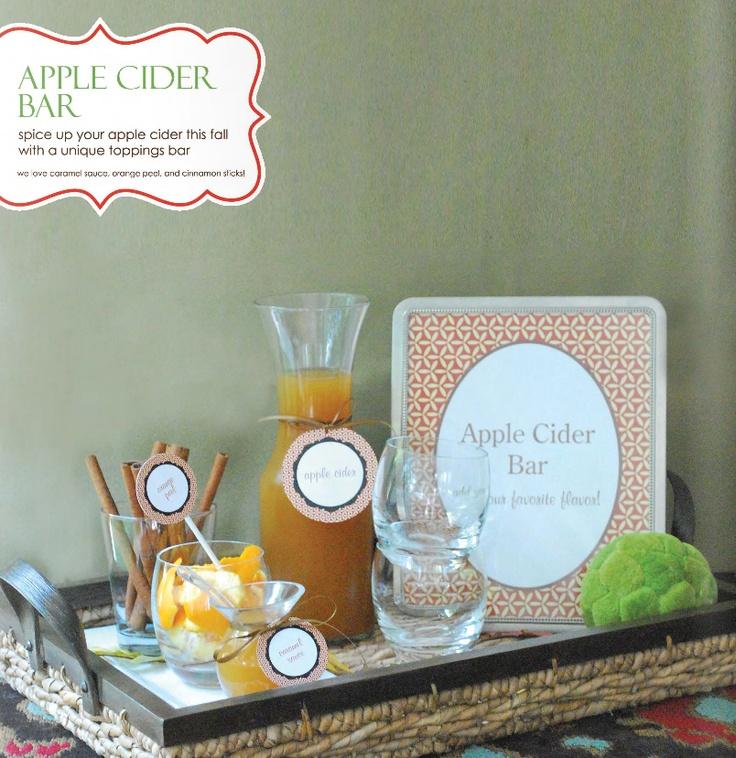 Apple Cider Bar - for shower? or reception.