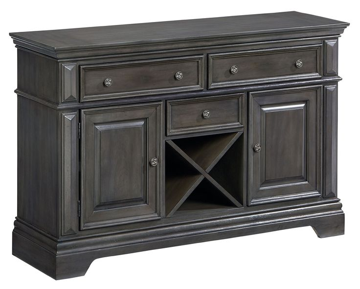 Standard Furniture Garrison Dining Room Traditionally Styled Buffet With  Grey Finish