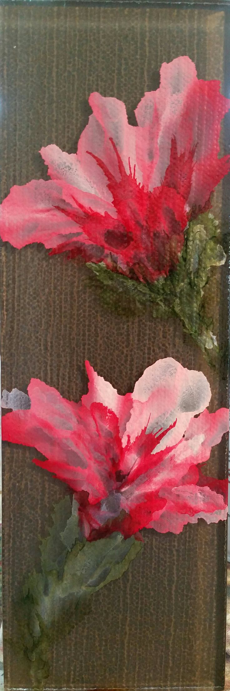 2102 best alcohol ink painting images on pinterest alcohol ink glass tile with white pearl red and pesto alcohol ink came out beautiful baditri Images