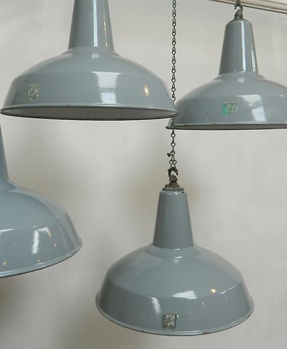 Enamelled industrial pendant Lights | eBay