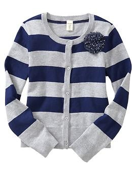 Girls Tulle-Flower Striped Cardis | Old Navy. The XL is actually a little big on me. $13: Footer Navig, Girls Tulle Flowing, Navy Changing, 24 94 Girls, Girls Closet, Girls Clothing, Navy Blue, Old Navy, Flower