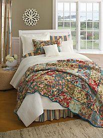 Kensington Garden Quilt, Sham, Bedskirt & Window Panels