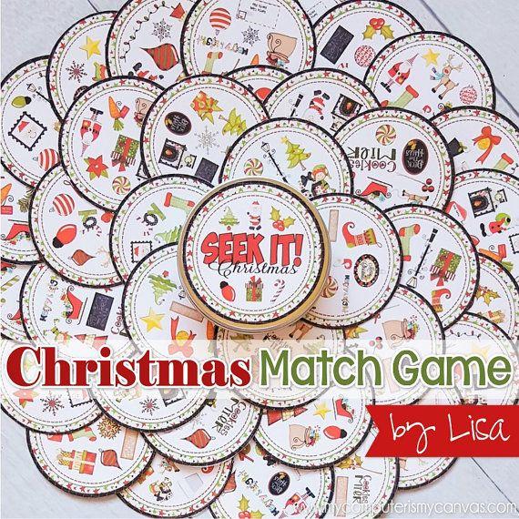 PRINTABLE Christmas Game, matching game, Christmas Activity, Party Game, Stocking Stuffer, Christmas Printable, Reindeer Games! #mycomputerismycanvas