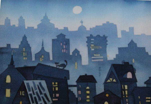 батик ночной город - Поиск в Google