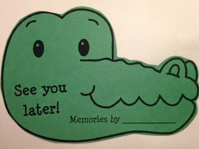 "Smart Kids: ""See Ya Later, Alligator!"" Ideas"