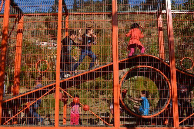 Divertida verja del Parque Bicentenario de la Infancia santiago de chile