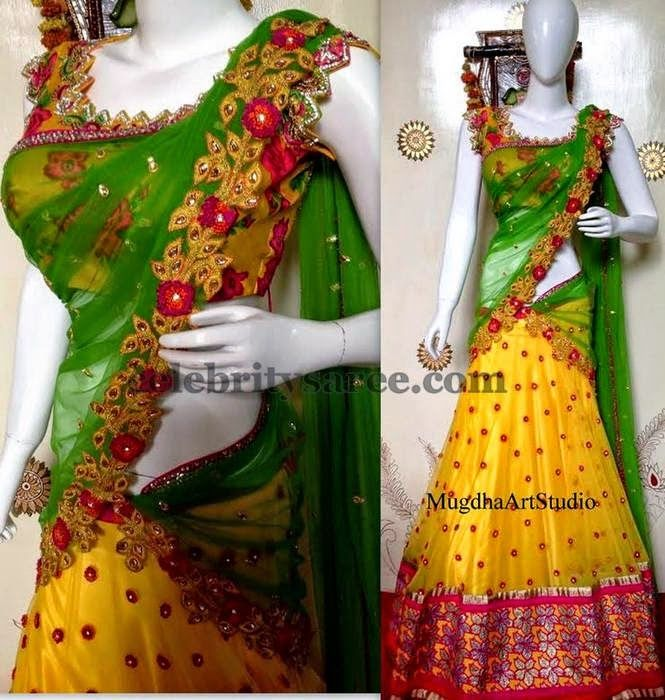 Colorful Mugdhas Half Saree