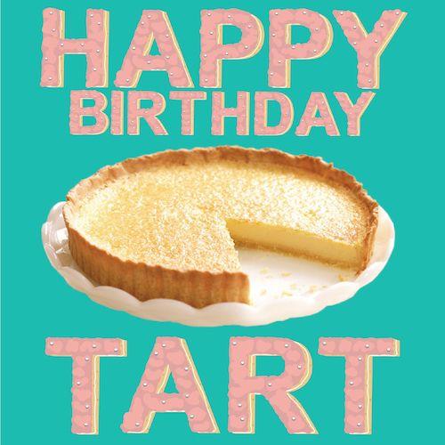 Happy Birthday Tart Card for Kinky Rhino Greeting Cards in South Africa #greetingcard #southafricancard #southafrica #card #happybirthday  #birthday #tart  #milktart #melktert