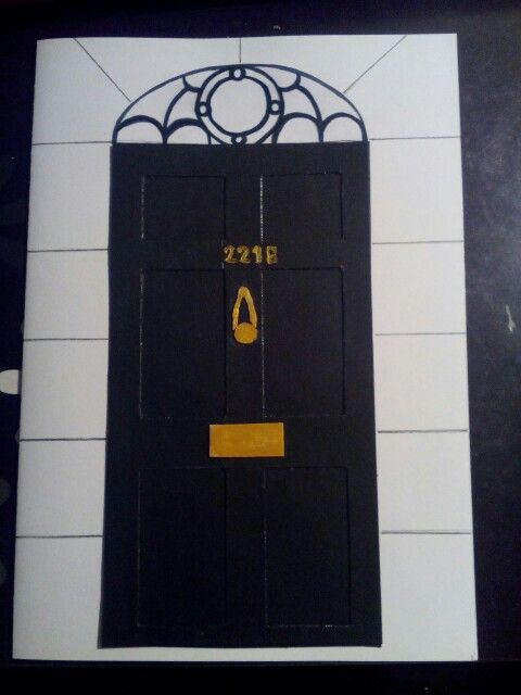 221B Baker street ♥ Sherlock door card