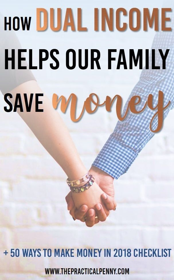 How Dual Income Helps Save Money and Pay Debt | The Practical Penny | One of the many benefits of having a spouse is the ability to leverage being a dual income family to pay off debt and save money! Do you need help becoming a 2 income family? #earnmoney #income #family