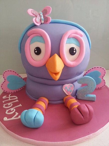Hootabelle Cake by BlissfulCakeCreations Pink Hoot Owl Cake Owl Cake — Children's Birthday Cakes party Girl Boys Kid Kids