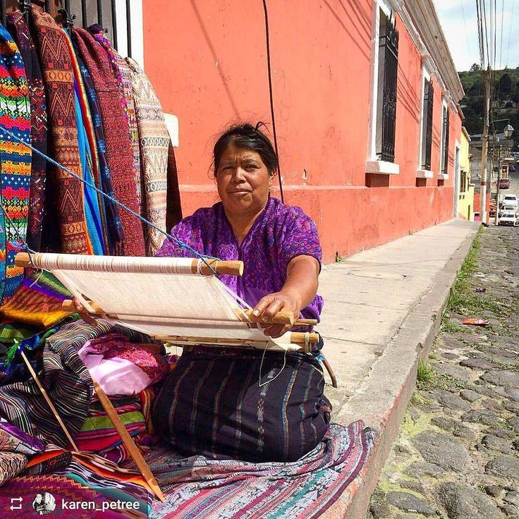 http://OkXela.com #Follow @karen_petree: Maria using traditional #mayan back strap loom to bring to life colorful textiles - #Xela #Quetzaltenango #Guatemala #ILoveXela #AmoXela #CentralAmerica #Travel #Xelaju
