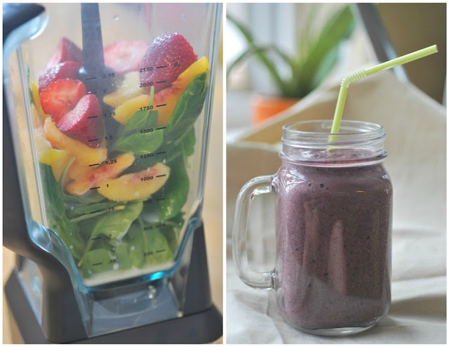 Purple healthy smoothie