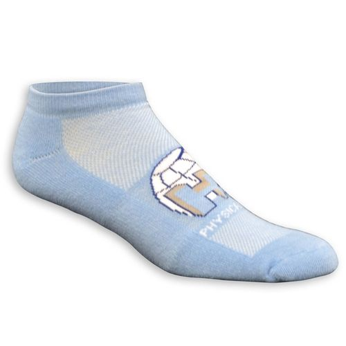 Buy no show style custom socks and more from ePromos.com. These customized socks sit right at the top of your shoe and feature your knit-in logo on the top.
