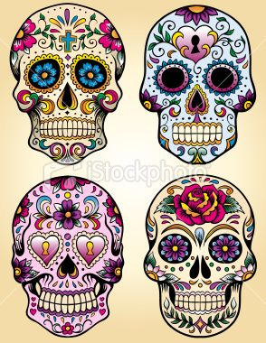 Day of the dead vector illustration set Royalty Free Stock Vector Art Illustration