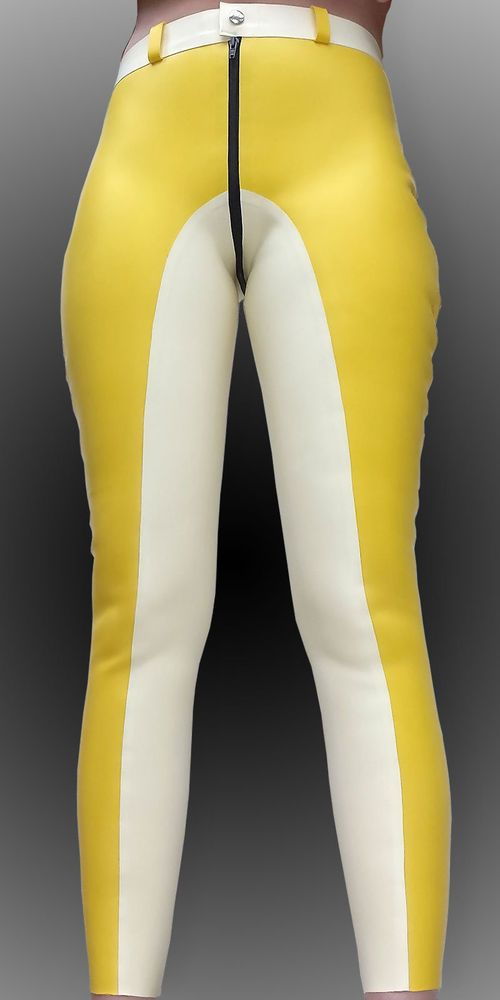 *~*Top Neu Sexy Heavy Rubber Riding Pants - Latex Reithose Gr.M/L *~*