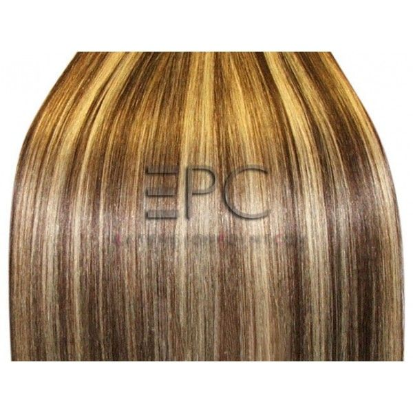 frange a clip chocolat meche platine - Coloration Meche Blonde
