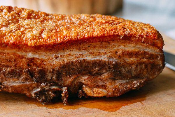 Cantonese Roast Pork Belly, by thewoksoflife.com
