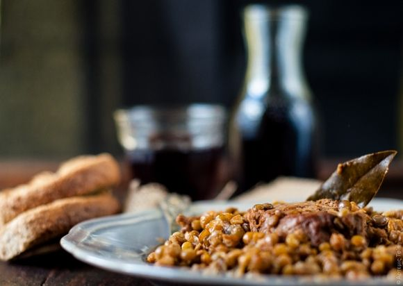 """Stufato di maiale con lenticchie (Guest post by Artemis #Wonderfoodland blog) - New Guest Post recipe on OPSD blog: Lentils and pork stew by Artemis """"Wonderfoodland"""" blog ;) [with English version]"""